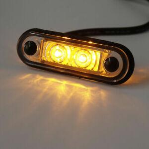 12/24V FLUSH FIT LED AMBER SIDE MARKER LIGHT For KELSA BAR TRUCK TRAILER VAN