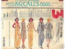 Sewing Pattern Misses SHIRT-JACKET, VEST, SKIRT, PANTS 8 10 12