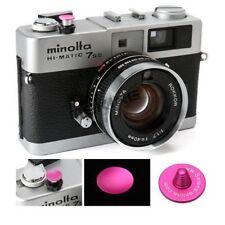 Pink Metal Soft Digital Camera Shutter Button Concave For Fujifilm Leica Canon