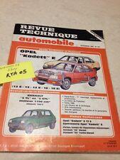 Revue Technique Automobile Opel Kadett E 12S 13 13S 16 18E , évolution R5 éd. 85