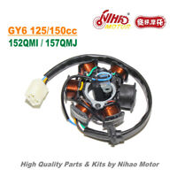 TZ-45B C100-6 Stator Magneto Coil DC GY6 Parts Chinese Scooter Motorcycle 152QMI