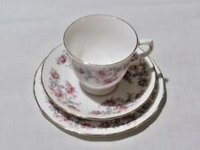 Vintage Royal Osborne  Pink Rose Trio Tea Cup Saucer & Plate (8595) Free UK P&P