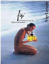 PUBLICITE ADVERTISING 054 1989 GUY LAROCHE parfum Fidji