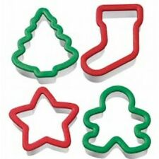 Wilton Christmas Holiday Grippy™ Cookie Cutter 4pce set (tree,stocking,star,man)