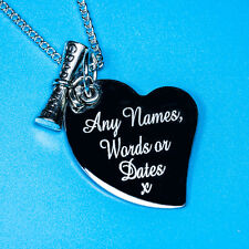 Personalised DIPLOMA GRADUATE Free words Engraved Charm Pendant Necklace Gift