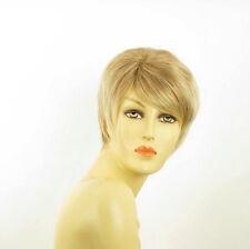 Perruque femme courte blond clair cuivré méché blond clair ELSA 27t613