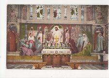 Lyndhurst Church Fresco Vintage Postcard 045a