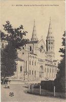 71 - cpa - MACON - Abside de Saint Pierre et le jardin des Postes
