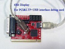 PCI&LPC+USB port 4Bit display PC POST Analyzer card debug card POST code