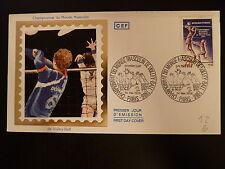 FRANCE PREMIER JOUR FDC YVERT 2420  CHAMPIONNAT DE VOLLEY BALL 2,20F  PARIS 1986