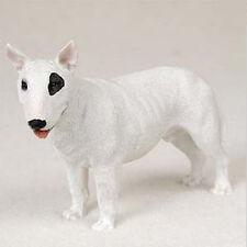 BULL TERRIER DOG Figurine Statue Hand Painted Resin Gift Pet Lovers White Black