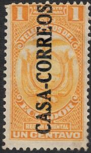 "1924 Ecuador SC#  RA22 - Inscribed ""Region Oriental"" - Postal Tax Stamps - M-H"