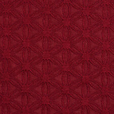 E530 Red, Flower Durable Jacquard Upholstery Grade Fabric By The Yard