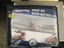 DOUBLE SIZE HEATED MATTRESS COVER PROTECTOR TWIN CONTROL SLUMBERLAND EASY FIT