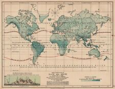 WORLD PRECIPITATION. Rainfall. Limit of Snowfall. Snowline. JOHNSTON 1906 map