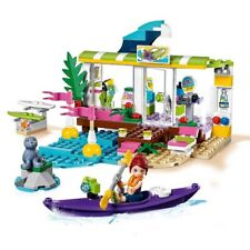Used Excellent Condition Lego Friends Heart lake Surf Shop - No Box