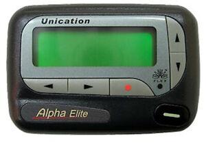 Unication Alpha Elite Alphanumeric Flex Pager 929.2875MHz