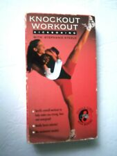 Knockout Workout Kickboxing VHS, 1993, with Stephanie Steele