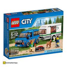 LEGO 60117 CITY Van & Caravan | Ages 5+ | 250 Pieces | NEW SEALED BUILDING TOY