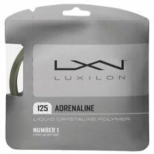 NEW Luxilon Adrenaline 16L (1.25) Tennis String Set Silver/Grey Pack