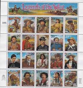 USA 1994 MNH RECALLED LEGENDS OF THE WEST