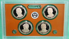 2015 PROOF Presidential $1 Coin Set 4 Golden Dollars COIN ONLY No Box