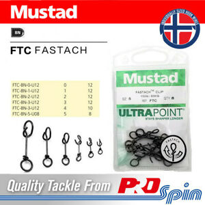 Mustad Fastach Clips - Ultra Point FTC Quick Lock Snap Clip