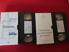 MERCEDES BENZ A KLASSE 2 VHS VIDEOs v 1997 SELTEN & RAR für LIEBHABER