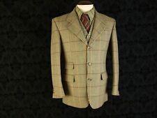Mens Scottish Tweed Hacking Jacket Blazer by Dunn & Co VTG  Size 38 reg a small