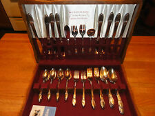 52-piece Rogers Brothers First Love silverplated flatware set