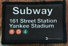 New York Yankees Subway Sign Morale Patch Tactical Military Army Baseball Flag