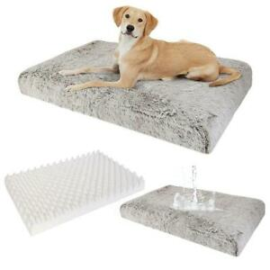 Extra Large Comfort Fluffy Foam Dog Pet Bed Soft Plush Cushion Removable Cover