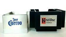 Jose Cuervo Tequila & Ketel One Vodka Bar Caddy Stainless & Wood Man Cave