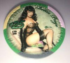 Palms Casino Las Vegas Nevada $25 Chip Playboy SEXY Bettie Page Limited Edition