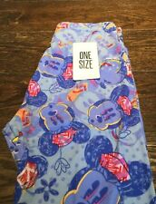 LuLaRoe Disney Collection, NEW; Leggings OS; Purple And Blue Vintage Minnie