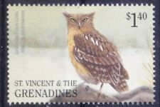 Brown Fish Owl, Birds of Prey, St. Vincent & Grenadines 2001 MNH
