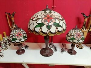 Trittico di lampade stile Tiffany