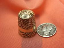 VICTORIAN ANTIQUE Solid 10K GOLD #11 EVA THIMBLE HEAVY 5.0 GRAMS Lot 122