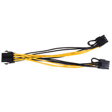 1X 8-pin to dual 8 pin 2x (6pin+2Pin) graphic video card power splitter cable CP
