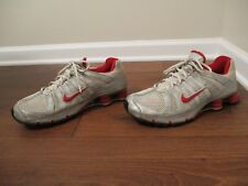 Classic 2006 Used Worn Size 12 Nike Shox NZ Turbo OH Shoes Silver White Red