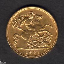 Australia.  1908 Melbourne - Half Sovereign.. gVF