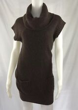 Puma  Women Brown Dress Size Small Turtleneck Short Sleeves Thick Material *10
