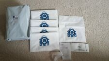 Miele C1 C2 C3 Compatible Microfibre GN hoover bags with filters. New and Unused