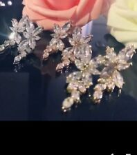 Rose Gold/ Silver/ Gold  Wedding Party Stunning Bling  Cubic Zirconia Earrings