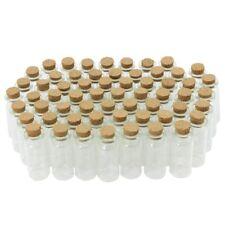 60x Mini Glasfläschen mit Korkverschluss, für Öle oder Gewürze, ca. 10 ml