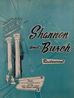 1960's Shannon & Burch Restaurant Original Photograph Dinner Menu Denton Texas