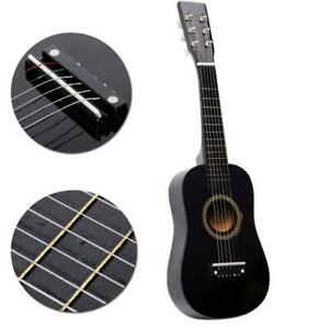 "Kids 23"" Black Wooden Acoustic Guitar Musical Instrument Girls Boys Gift"