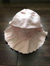 da18e0a1ff5 NEW Baby GAP Infant Girl Pink Ruffle Sun Hat Size 12-18 Months