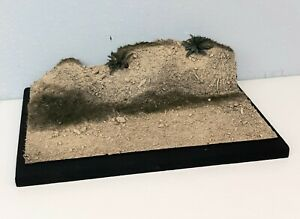 "1:35 1:48 1:72 Scale Built Armor Figure Model Display Base Diorama 5""x7"" Desert"
