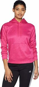 adidas Women's Team Issue Pullover Hoodie, Real Magenta, XS